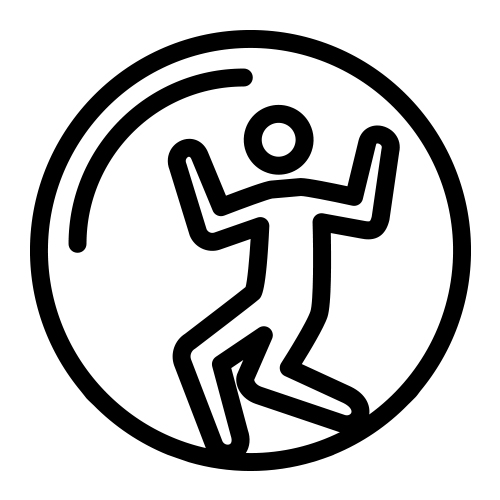 Zorb bump and bounce icon