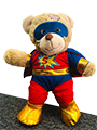 Teddy bear superhero