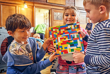 Children playing with LEGO® bricks