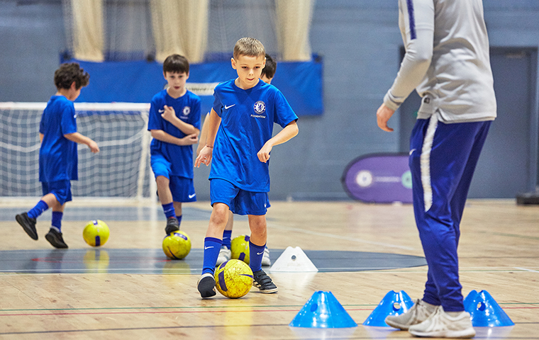 Chelsea football camps indoor training