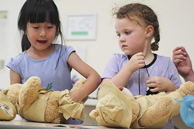Building bears on SuperCamps Multi-Activity camp