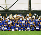 Children received certificates on football course