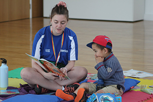 Reading at SuperCamps with Activity Instructor