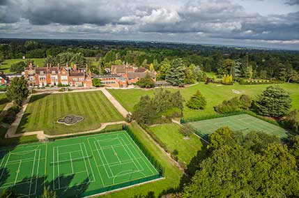 Tennis Courts for children's holiday sport and activities at Sherfield School
