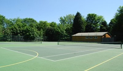 Tennis courts at Burgess Hill School for Girls