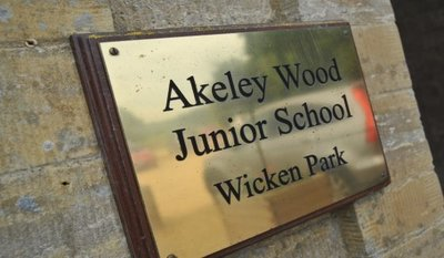 Akeley Wood sign