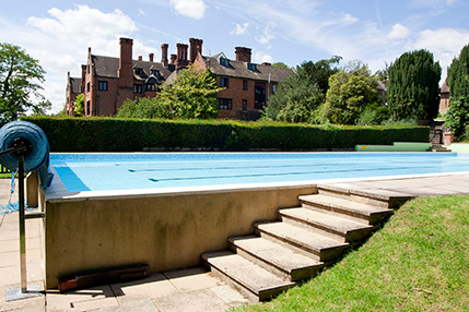 Outdoor swimming pool at Shiplake College
