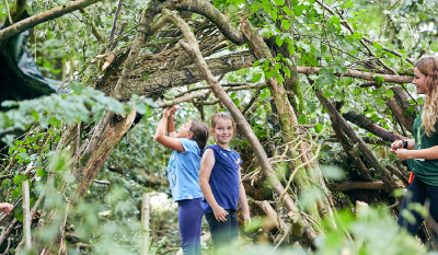Woodland perfect for SuperCamps Bushcraft course for children