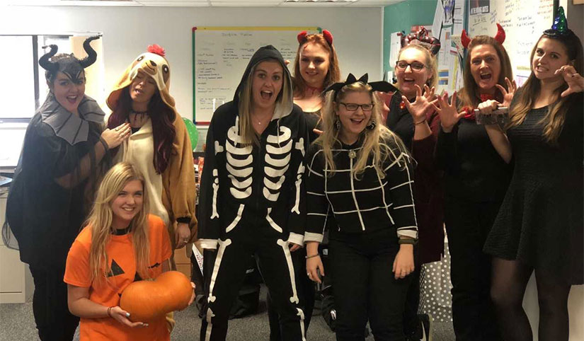 Head Office staff dressed for Halloween