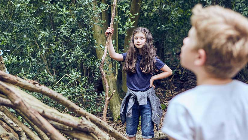 Shelter building at SuperCamps Bushcraft specialist school holiday course