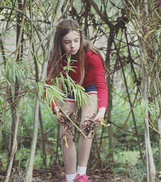 Forest school outdoor activities for children at Akeley Wood Junior School