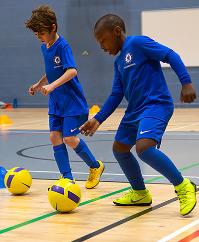 Children at Chelsea FC Foundation Football Camp