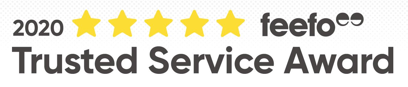 Feefo service award banner